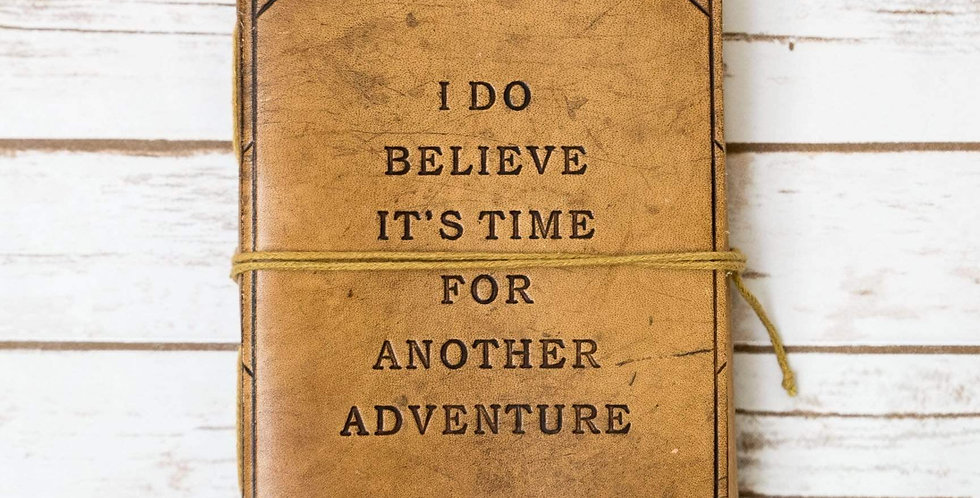 Another Adventure Blonde Handmade Leather Journal