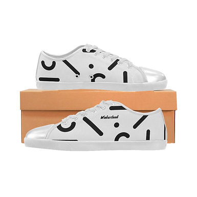 White Canvas Wakerlook Shoes