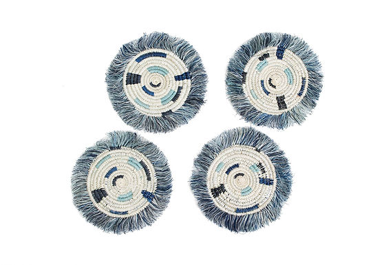 Silver Fringed Coasters