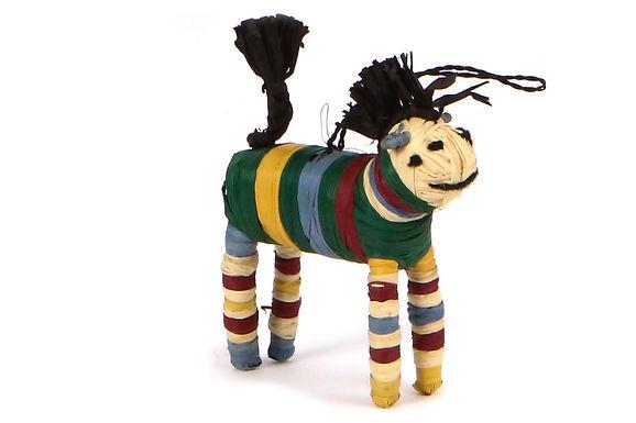 Evergreen Raffia Horse