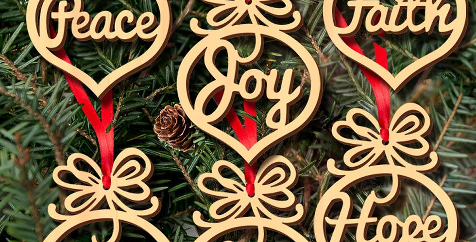 Christmas Wooden Ornament
