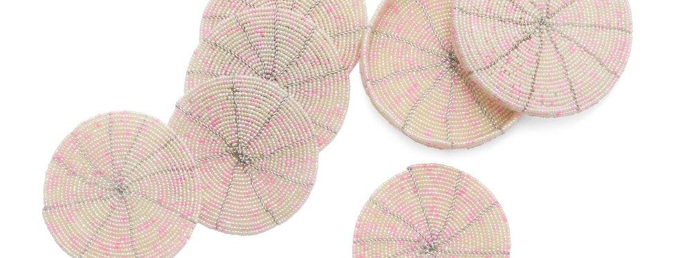 Pearled Pink Coasters