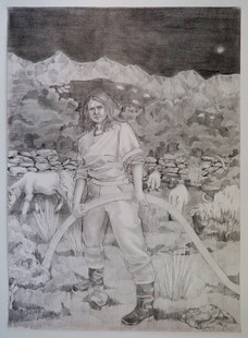Study for Self Portrait with Mullet Sheep