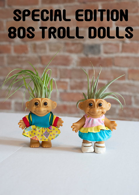 80s Troll Dolls, One Of A Kind, Special Edition, Cute, Backpack, Airplant