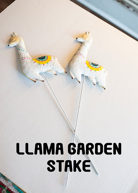 Llama Garden Stake, Plant Decor, Cute, Gifts