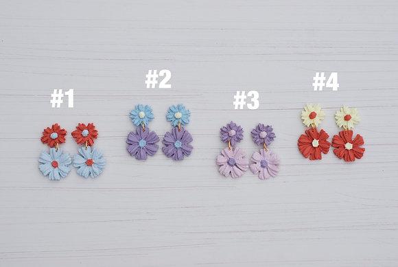 Spring Floral Dangle Earrings