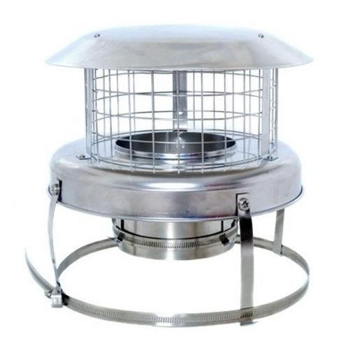 """6"""" Dura Flue Pot Hanger Rain Cowl (Superior model)"""