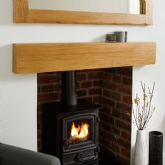Square Oak Beam Mantel 1350mm-53.25""