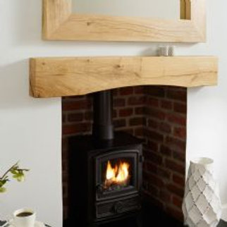 "Arched Oak Beam Mantel 1050mm-(41.5"")"