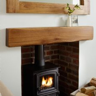 "Scalloped Oak Beam Mantel 1050mm-(41.5"")"