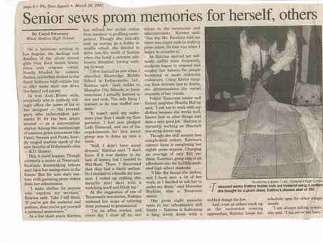 Senior sews prom memories for herself, others