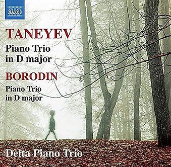 Album Cover CD 'Taneyev and Borodin' by the Delta Piano Trio