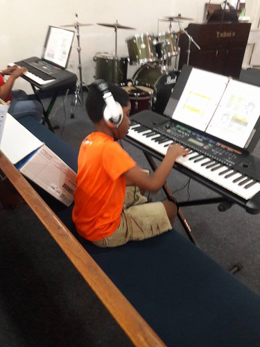 A-Stone Piano School Student playing alone