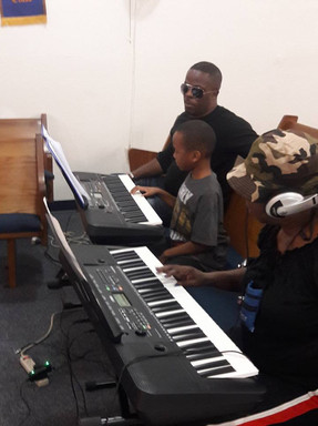 A-Stone Piano School Playing keyboard