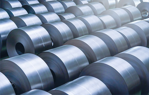 Cold rolled steel coil at storage area i