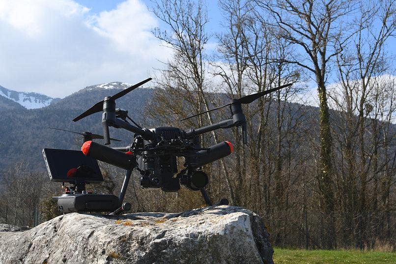 Drone avec caméra thermique pour recherche d'animaux, faons.