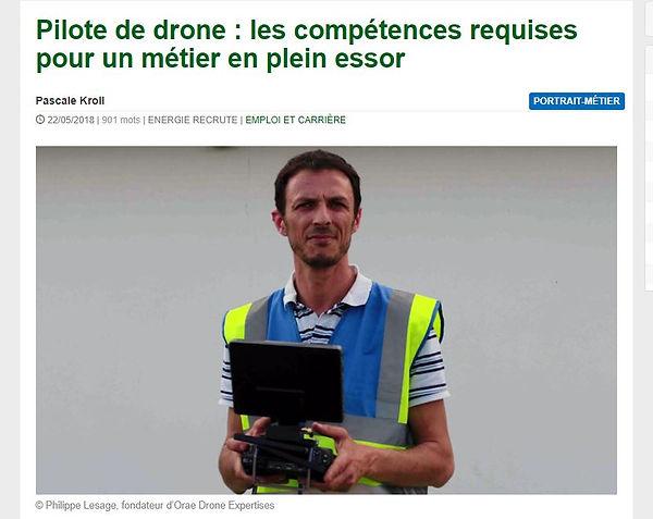 Philippe lesage fondateur d'orae drone expertises