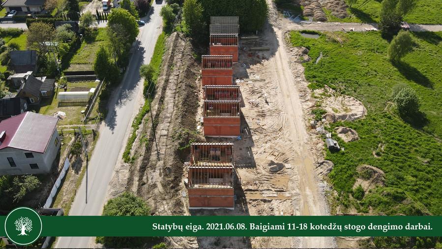 Statybų eiga. 2021.06.08