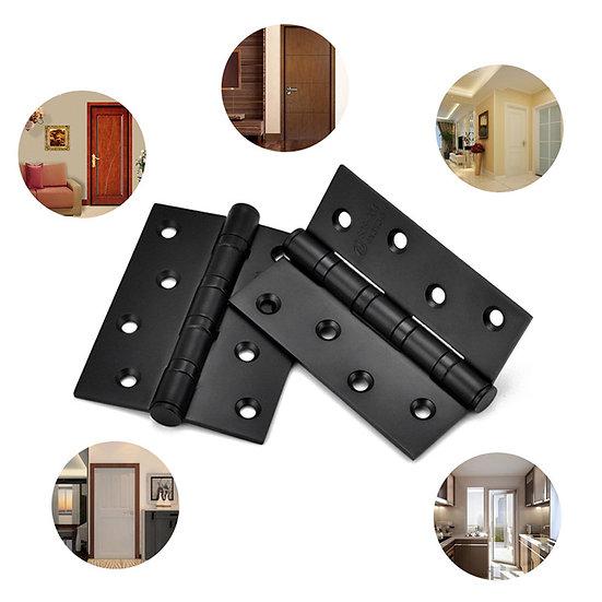 1 Pair 4 Inch Door Hinges Stainless Steel Wood Doors Cabinet Drawer Box Interior