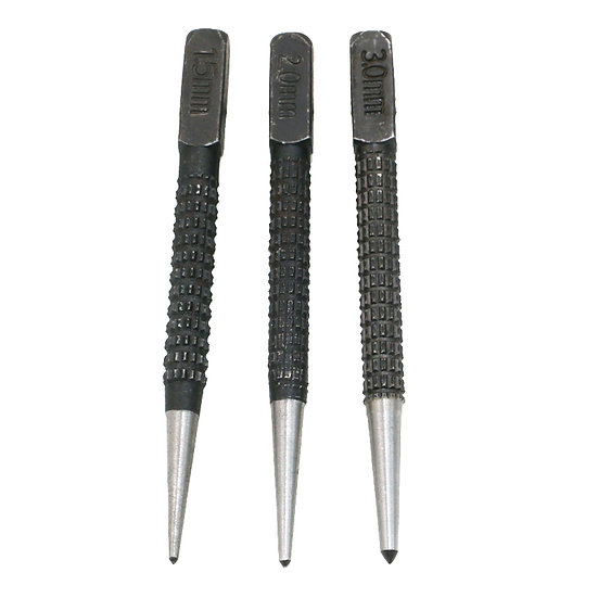 3pcs High-carbon Steel Center Punch Set 10.1cm Non Slip Center Punch For Alloy