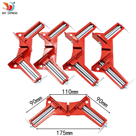 4pcs Style 90 Degrees Angle Clamp Right Angle Woodworking Frame Clamp DIY