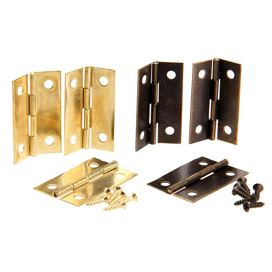 4Pcs Antique Bronze/Gold Cabinet Hinges Furniture Accessories Wood Boxes