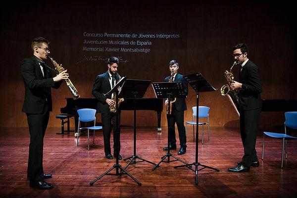 Psaiko Quartet enel Concurso Permanente de Jóvenes Intérpretes Juventudes Musicales de España Memorial Xavier Montsalvatge