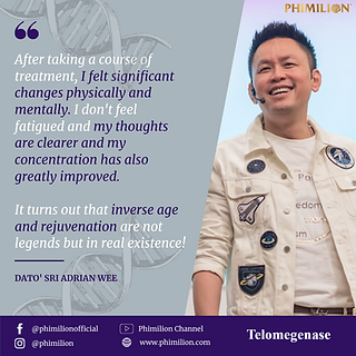 telomegenase, testimonial, reviews, cell therapy, anti-aging, telomerase, telomere supplement, adrian wee