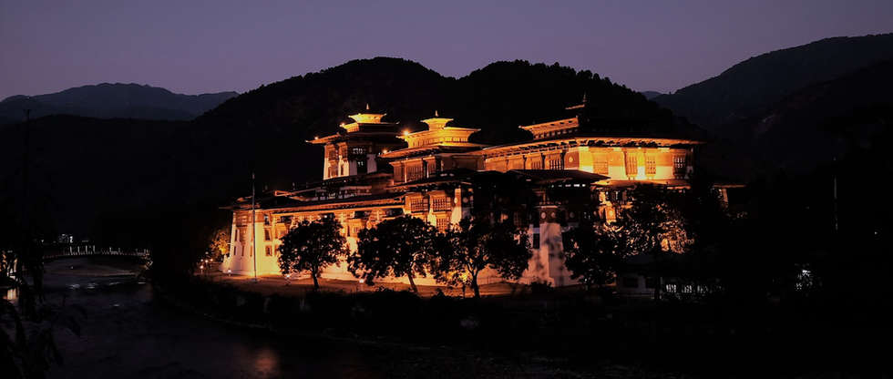 temple bhutan night