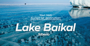 Explore your next bucket list destination: Lake Baikal, Siberia!