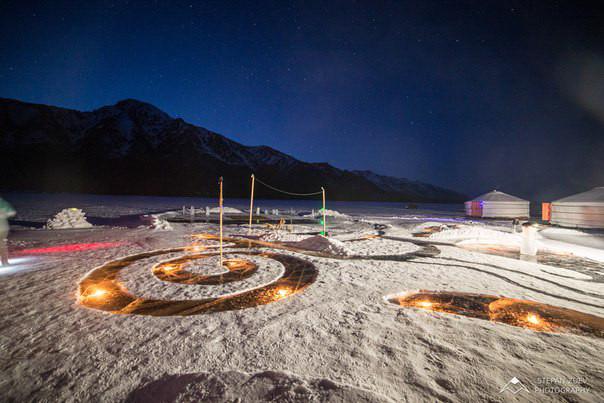 jurts on frozen lake baikal hotels