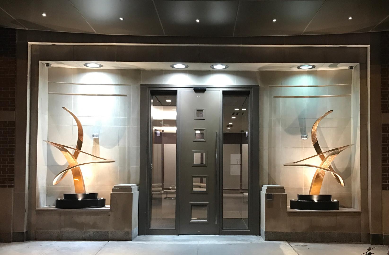 Modern Bronze Entry Sculpture