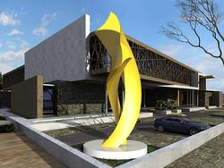 Yellow sculptrue