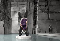 Large Amethyst Geode Sculpture