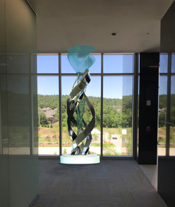 Metal and Glass Sculpture
