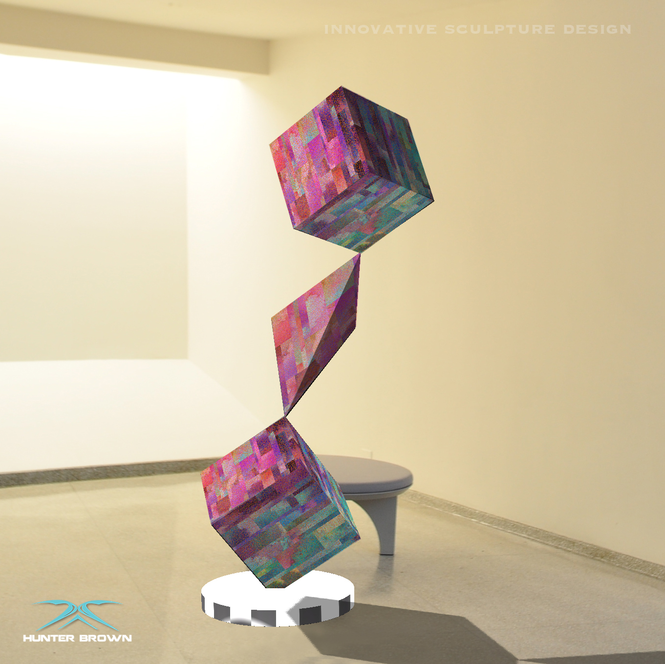 Geo sculpture concept with printed metal finish.jpg