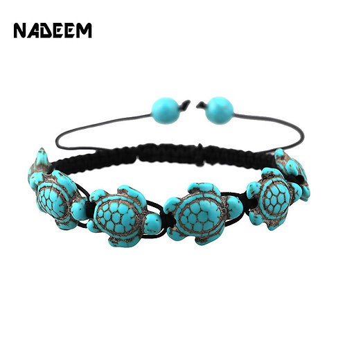 NADEEM Sea Turtle Charm Bracelet