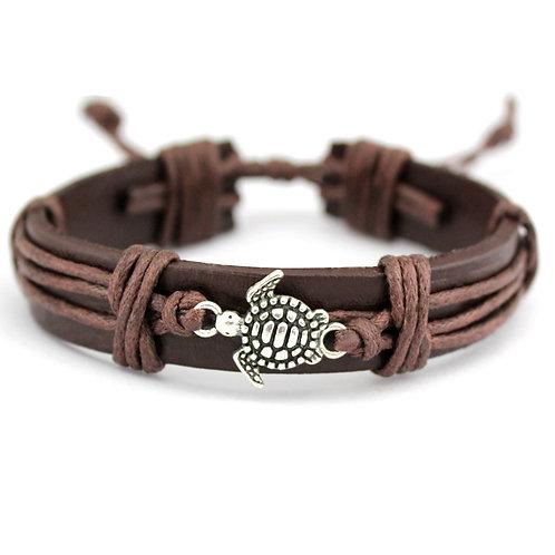 Turtle Tortoise Bee Leather Bracelets