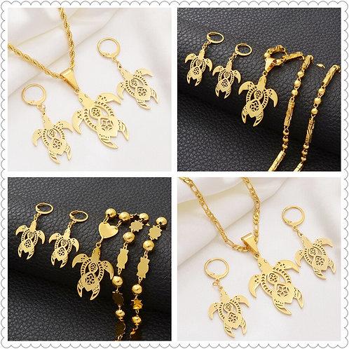 Anniyo Hawaii Turtle Necklaces Earrings Jewelry Sets