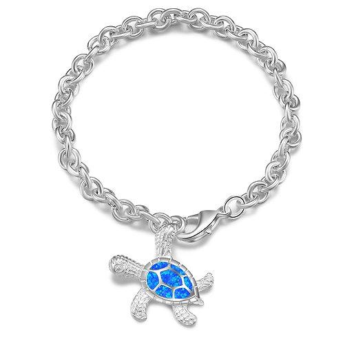 Sea Turtle Drop Blue Opal Bracelets