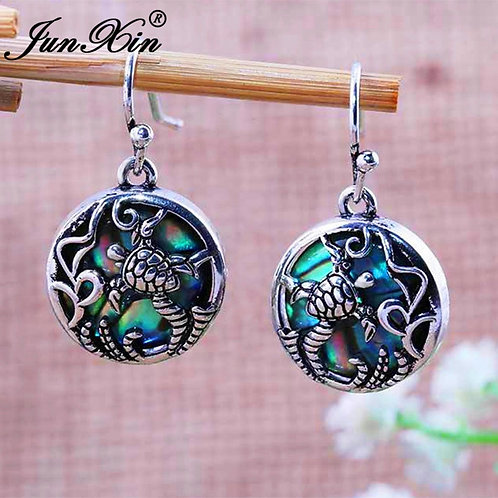 Boho Beach Turtle Dangle Earrings
