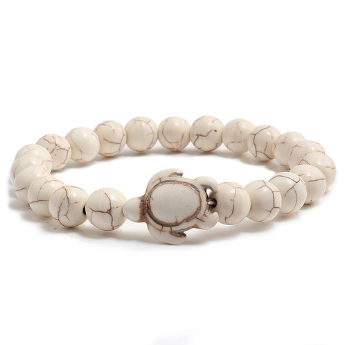 Sea Turtle Lava Stone Bracelet