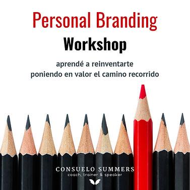 Flyer Personal Branding Workshop Marzo 2