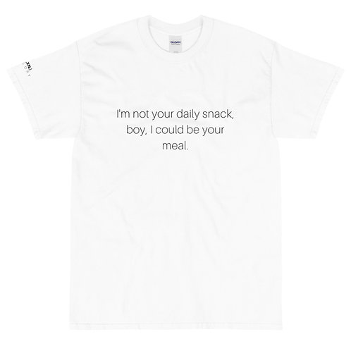 daily snack tee - white