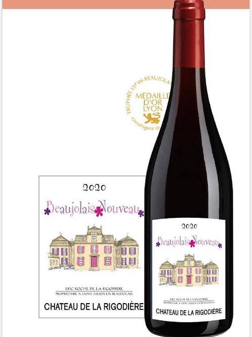 2020 Ch. de la Rigodière, Beaujolais Nouveau, 12er Karton (10,56€/1l)