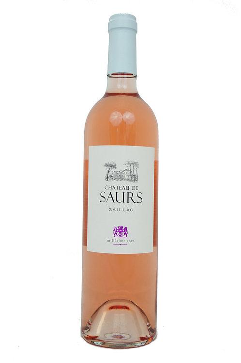 2019 Château de Saurs, 0,75l Rosé (14,60€/1l)