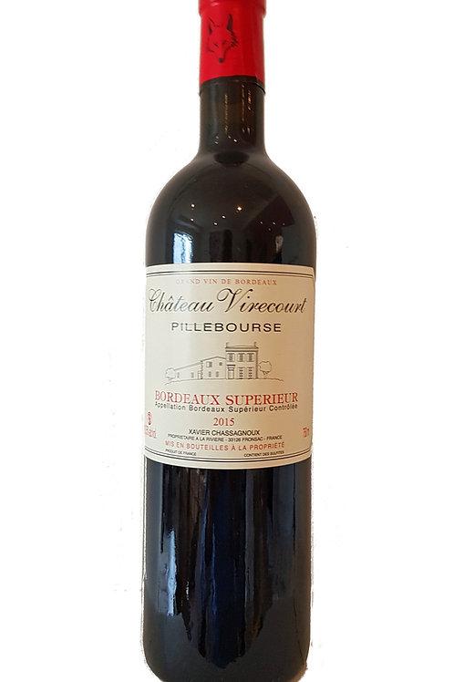2015 Ch. Virecourt, Pillebourse, 0,75l Bordeaux Superieur (11,33€/1l)