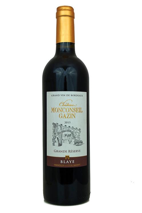 2016 Ch Monconseil Gazin, 0,75l Blaye, Côtes de Bord. Grande Réserve (19,93€/1l)