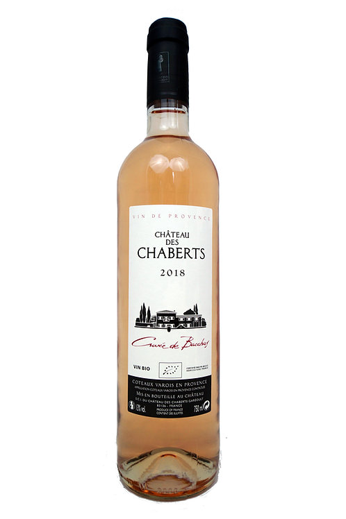 2019 Ch des Chaberts, Côteaux Varois, 0,75l Rosé Bacchus (14,60€/1l)