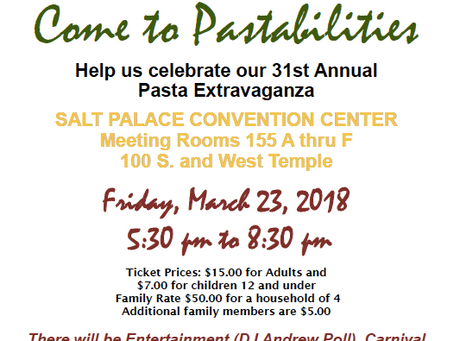 Save the Date for Pastabilities!